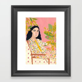 Floral Lady Framed Art Print