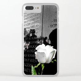 Vietnam Memorial Clear iPhone Case