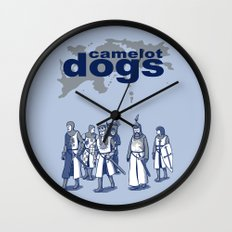 Camelot Dogs Wall Clock