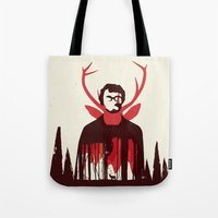 hannibal Tote Bags featuring Hannibal by Risa Rodil