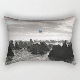 Mysterious Blue Orbs Rectangular Pillow