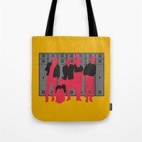 breakfast club Tote Bags featuring The Breakfast Club by FilmsQuiz