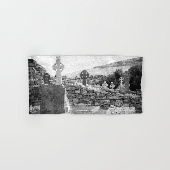 Halloween Graveyard | Horror | Black and White Cemetery | Gothic Graves | Hand & Bath Towel