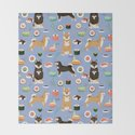Shiba Inu noodles pho food cute dog art sushi dogs pet portrait pattern by petfriendly