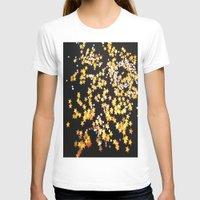 gold glitter T-shirts featuring Glitter Gold Yellow Twinkle Stars by Masanori Kai