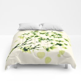 Green tickles - Botanical Print Comforters