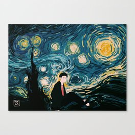 Taehyung Starry Night Canvas Print