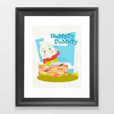 Humpty Dumpty Framed Art Print