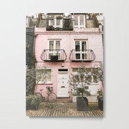 Italian Pink Building Metal Print