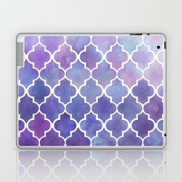Purples & Pinks Watercolor Moroccan Pattern Laptop & iPad Skin