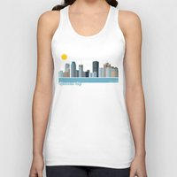 montreal Tank Tops featuring Montreal City by loogart
