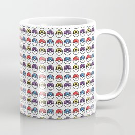80s Pokéball Pattern Coffee Mug