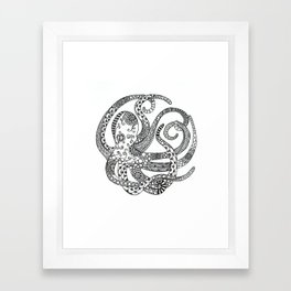Circular Octopus Framed Art Print