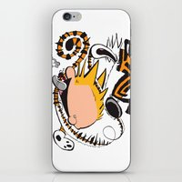 hobbes iPhone & iPod Skins featuring Calvin and Hobbes caricature design by Eric Goodwin