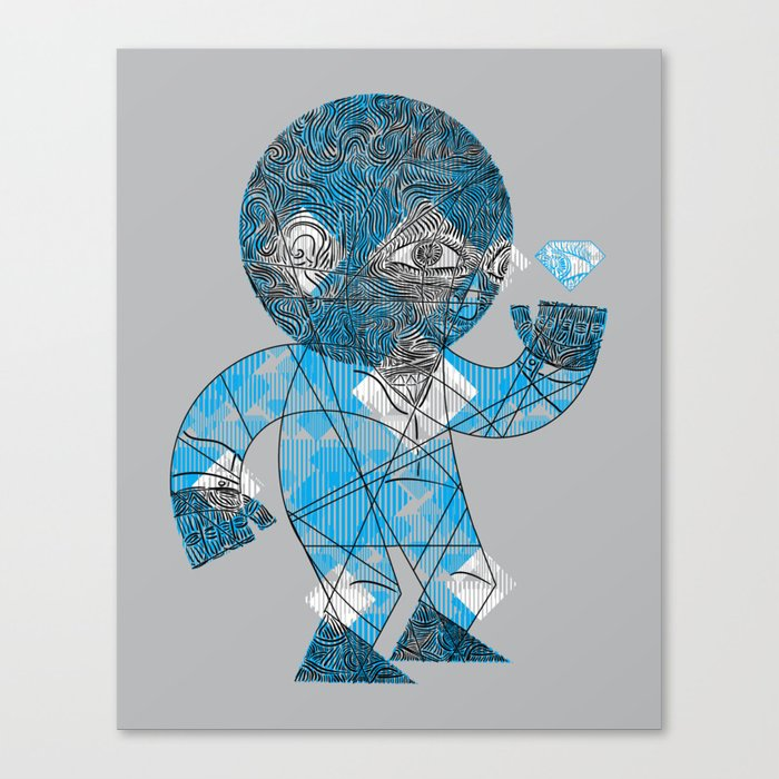 mesmerized by the light blue diamond Canvas Print