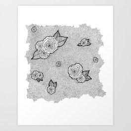 Dotted Floral Art Print