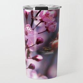 Fresh cherries in the pink blossom dream Travel Mug