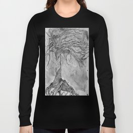 Tree of Life (Grey Scale) Long Sleeve T-shirt
