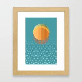 Minimalist Sunset Over Ocean, Vacation Print, Sun Set Poster, Large Printable Photography, Wall Art Framed Art Print