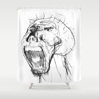 beast Shower Curtains featuring Beast by Luis C. Araujo