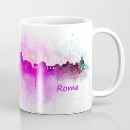 Rome city skyline HQ v05 pink Coffee Mug