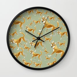 Ginger dingo pattern Wall Clock