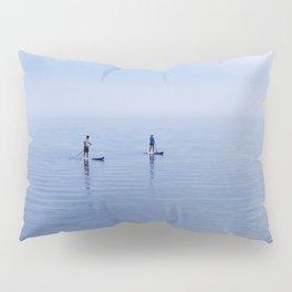 Couple Paddleboarding on Lake Ontario Pillow Sham