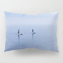 Couple Paddleboarding on Lake Ontario Pillow Sham
