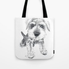 Schnozz the Schnauzer Tote Bag