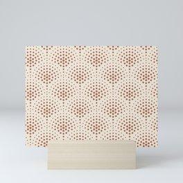 Cavern Clay SW 7701 Polka Dot Scallop Fan Pattern on Creamy Off White SW7012 Mini Art Print