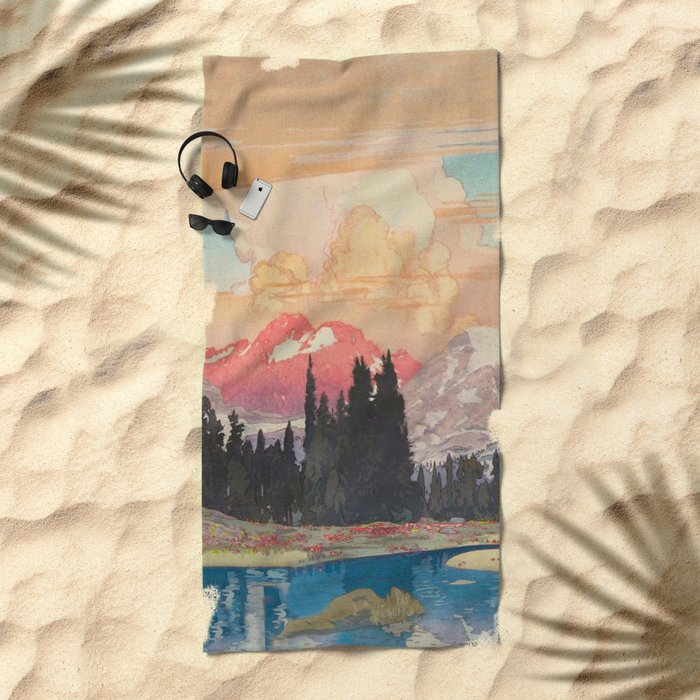 Storms over Keiisino Beach Towel