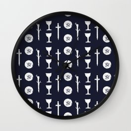 Wands, Cups, Swords and Pentacles  Wall Clock