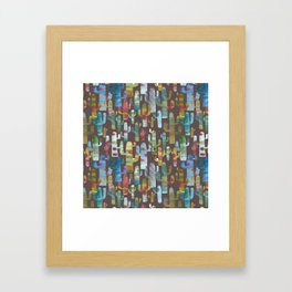 Watercolor Cacti - Browns Framed Art Print
