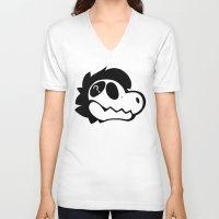 logo V-neck T-shirts featuring Logo! by Mynosylexia