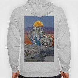 DESERT MOON AGAVE  LANDSCAPE CACTUS ART Hoody