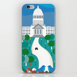 Boise, Idaho - Skyline Illustration by Loose Petals iPhone Skin