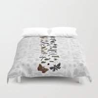 insects Duvet Covers featuring letter I - insects by judypleung