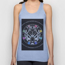 Silver Fenrir with Materia Unisex Tank Top