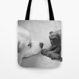 The Dog and The Gargoyle Tote Bag
