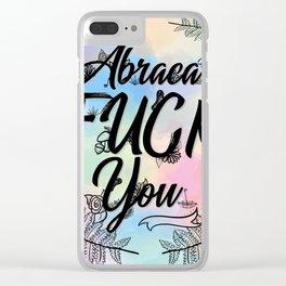 Abraca-F***-You Clear iPhone Case