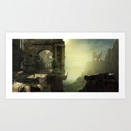 Dragon Ruins Art Print