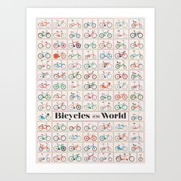Bicycles of the World Art Print
