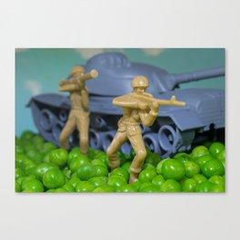 War and peas Canvas Print