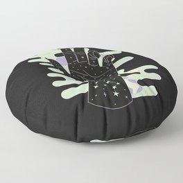 Taurus - Zodiac Constellation Illustration Floor Pillow