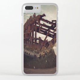 Shipwrecked - The Peter Iredale Clear iPhone Case