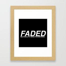 FADED AD Framed Art Print