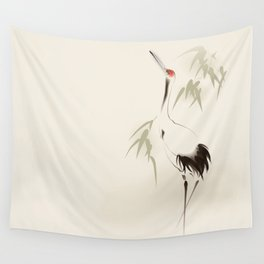 Oriental Red-Crowned Crane 001 Wall Tapestry