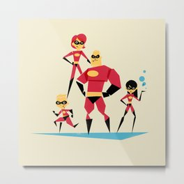 Incredi-family Metal Print