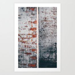 Grunge Brick Art Print