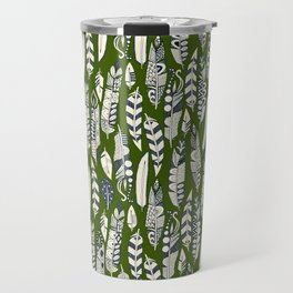 joyful feathers green Travel Mug